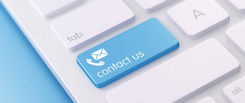 Modern Keyboard wih Contact Us Button