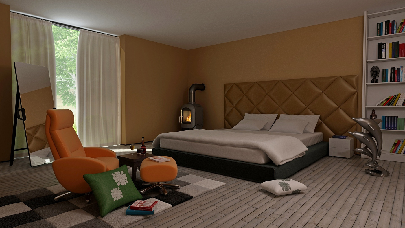You are currently viewing Retro Modern Bedroom Interior